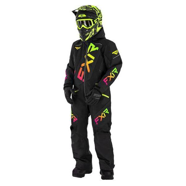 Combinezon Monosuit SNOW Copii FXR Combinezon Copii Insulated CX Black/Sherbert 2021