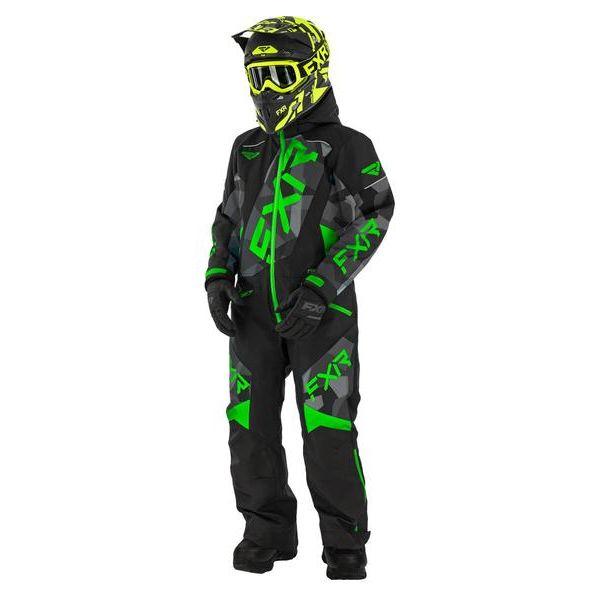 Combinezon Monosuit SNOW Copii FXR Combinezon Copii Insulated CX multicolor-verde 2021
