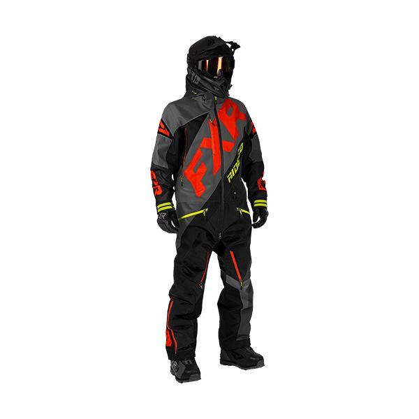 Combinezon Monosuit SNOW FXR Combinezon CX Lite Charcoal/Black/Lava/Hi-Vis 2020