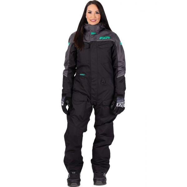 Combinezon Monosuit SNOW Dama FXR Combinezon Dama Insulated Excursion Black/Char/Mint 2021