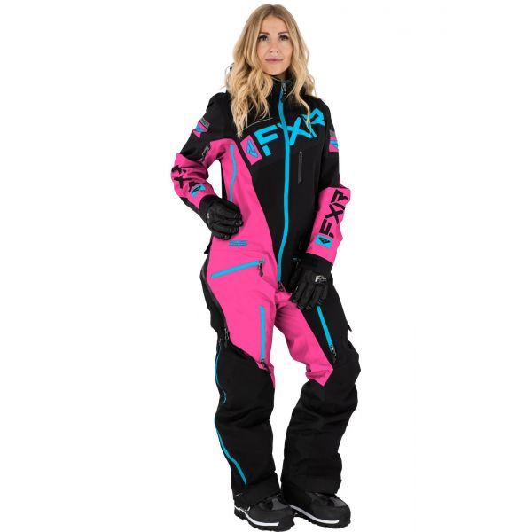 FXR Combinezon Dama Insulated Ranger Instinct Black/Elec Pink/Sky Blue 2021