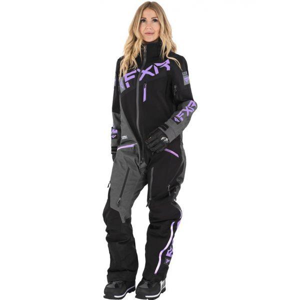 FXR Combinezon Dama Insulated Ranger Instinct Black/Mid Grey Hthr/Lilac 2021