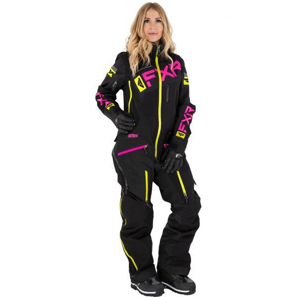 Combinezon Monosuit SNOW Dama FXR Combinezon Dama W Ranger Instinct Non-Insulated Lite Black/Fuchsia/Hi Vis 2021