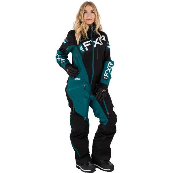 Combinezon Monosuit SNOW Dama FXR Combinezon Dama W Ranger Instinct Non-Insulated Lite Black/Ocean/White 2021