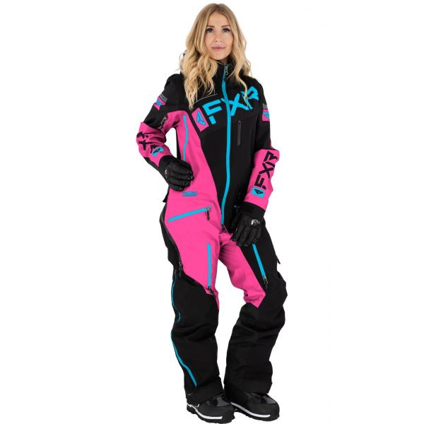 Combinezon Monosuit SNOW Dama FXR Combinezon Dama W Ranger Instinct Non-Insulated Lite Black/Pink/Sky Blue 2021
