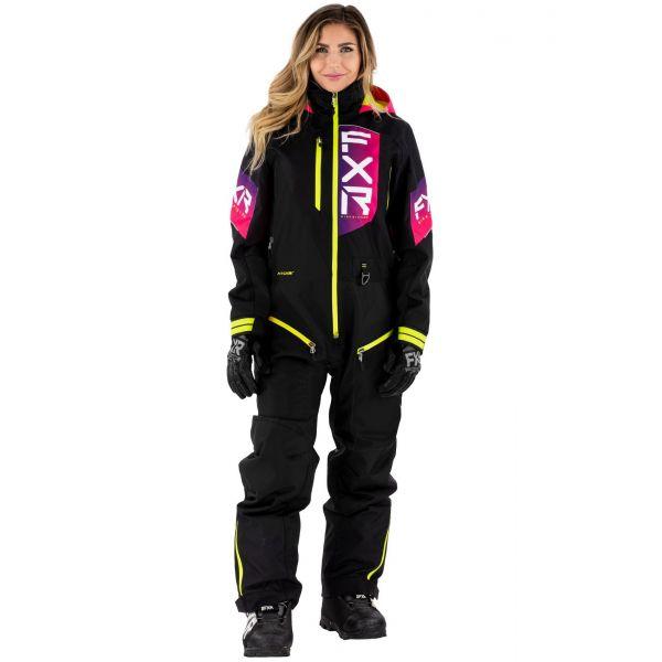 Combinezon Monosuit SNOW Dama FXR Combinezon Dama W Recruit Non-Insulated Lite Black/Fuchsia Fade/Hi Vis 2021
