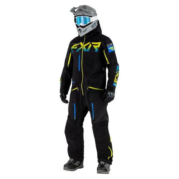 Combinezon Monosuit SNOW FXR Combinezon Non-Insulated Ranger Instinct Lite SX Pro Black/Blue/Hi Vis 2021