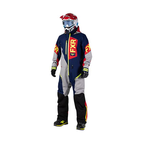 Combinezon Monosuit SNOW FXR Combinezon Recruit Lite Navy/Lt Grey/Red/Hi Vis