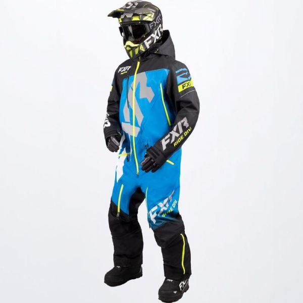 Combinezon Monosuit SNOW FXR Combinezon Snow CX Lite Black/Blue/Hi Vis 2022