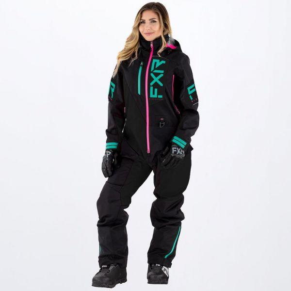 Combinezon Monosuit SNOW Dama FXR Combinezon Snow Dama Recruit Insulated Black/Mint/Elec Pink 2022
