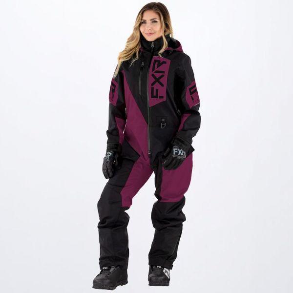 Combinezon Monosuit SNOW Dama FXR Combinezon Snow Dama Recruit Insulated Wine/Black 2022