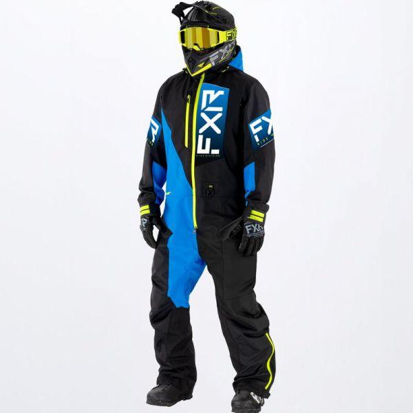 Combinezon Monosuit SNOW FXR Combinezon Snow Recruit Lite Monosuit Black/Blue/Hi Vis 2022