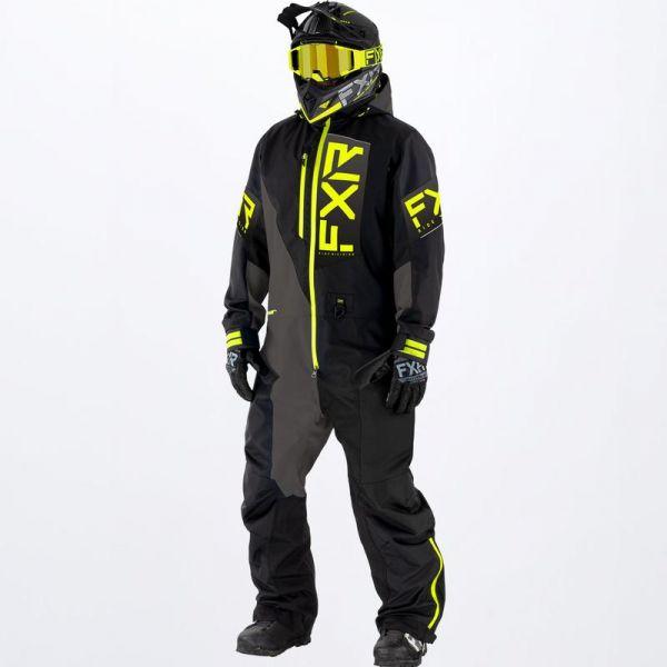Combinezon Monosuit SNOW FXR Combinezon Snow Recruit Lite Monosuit Black/Char/Hi Vis 2022