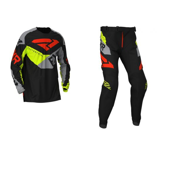 Combo MX Enduro FXR Combo MX Podium Black/Grey/Hi Vis/Nuke Red 2020