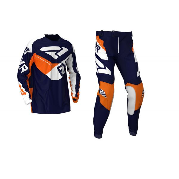 Combo MX Enduro FXR Combo MX Podium Midnight/White/Orange 2020