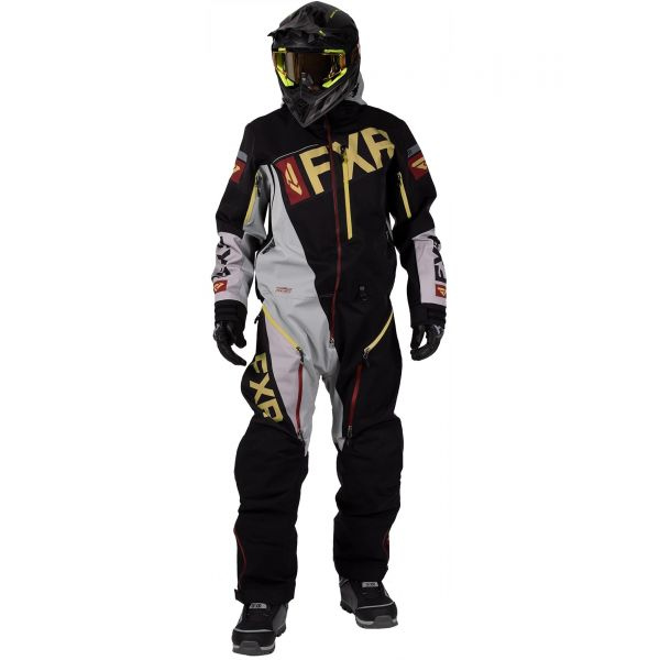 Combinezon Monosuit SNOW FXR Monosuit Ranger Instinct Lite 2020 Black/Grey/Rust/Gold 2020