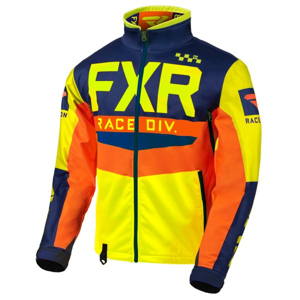 Geci Enduro FXR Geaca Cold Cross RR Hi Vis/Navy/Orange 2020