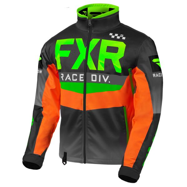 Geci Enduro FXR Geaca Cold Cross RR Lime/Black/Orange/Charcoal 2020