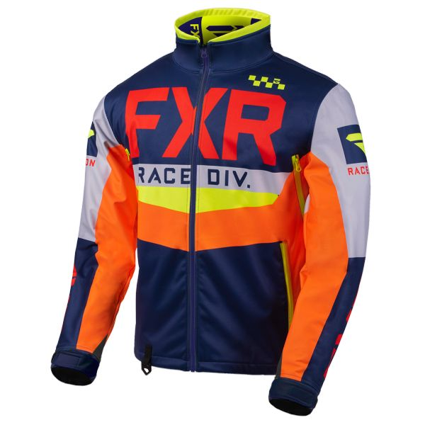 Geci Enduro FXR Geaca Cold Cross RR Navy/Light Grey/Nuke/Orange 2020
