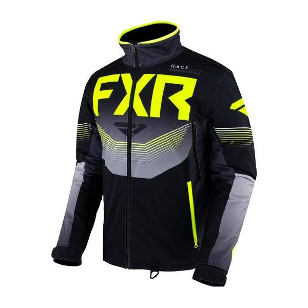 Geci Enduro FXR Geaca MX Cold Cross RR Black/Char/Hi Vis 2021