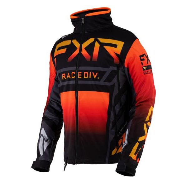 Geci Enduro FXR Geaca MX Cold Cross RR Black/Char/Orange/Inferno 2021