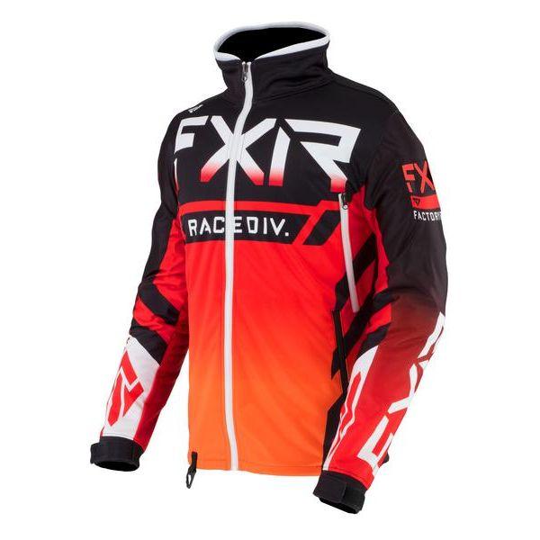 Geci Enduro FXR Geaca MX Cold Cross RR Black/Red/Orange 2021