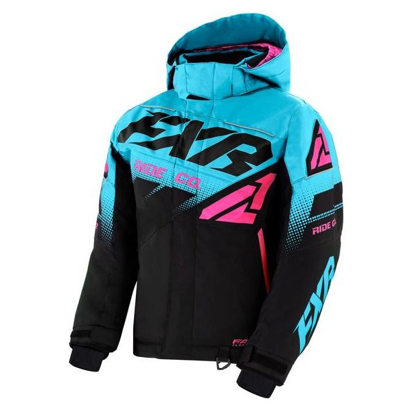 Geci Snowmobil - Copii FXR Geaca Snow Copii Insulated Boost Black/Sky Blue/Elec Pink 2021