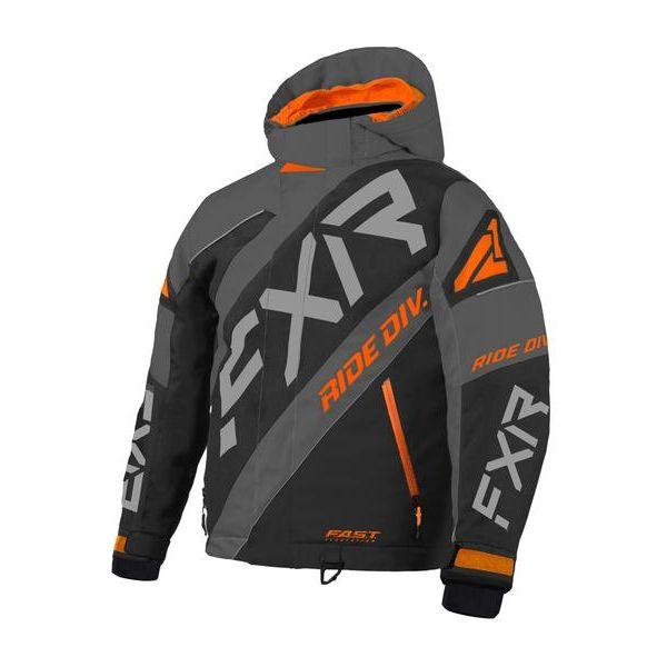 Geci Snowmobil - Copii FXR Geaca Snow Copii Insulated CX Black/Orange/Char 2021