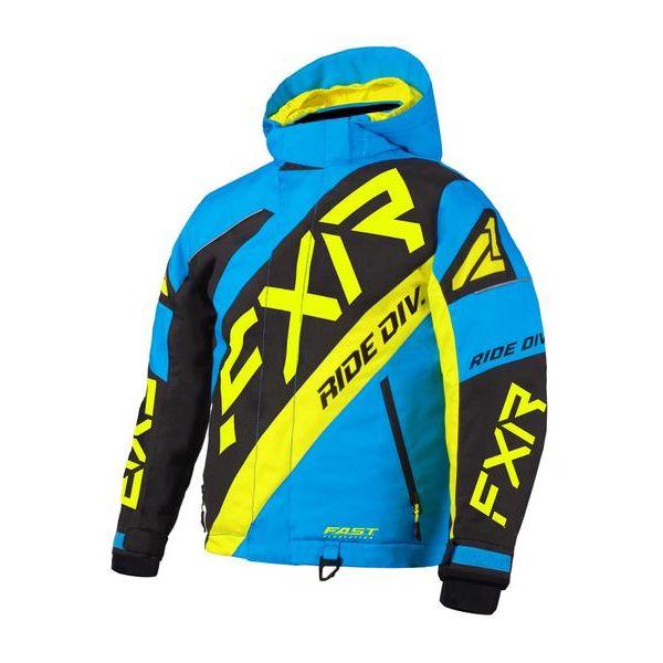 Geci Snowmobil - Copii FXR Geaca Snow Copii Insulated CX Blue/Black/Hi Vis 2021