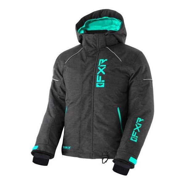 Geci Snowmobil - Copii FXR Geaca Snow Copii Insulated Fresh Char Jersey/Mint 2021