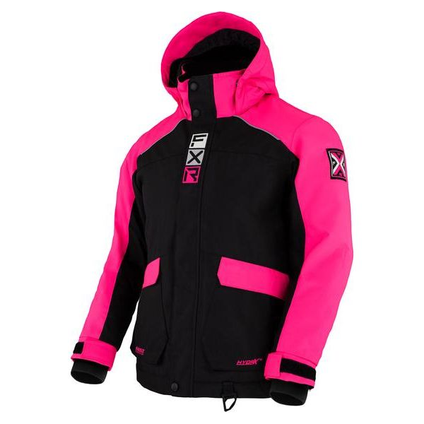 Geci Snowmobil - Copii FXR Geaca Snow Copii Insulated Kicker Black/Elec Pink 2021