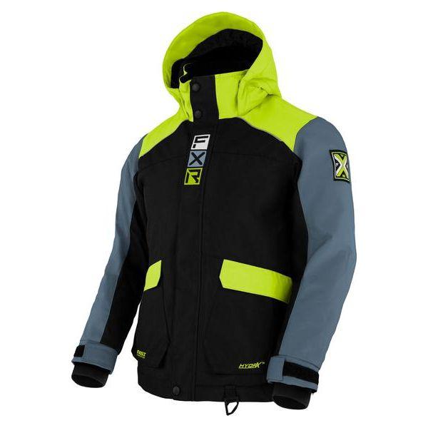 Geci Snowmobil - Copii FXR Geaca Snow Copii Insulated Kicker Black/Lime/Steel 2021