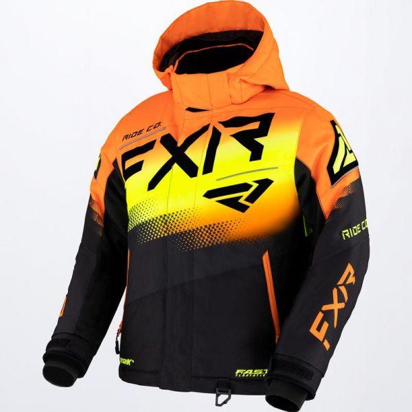 Geci Snowmobil - Copii FXR Geaca Snow Copii Mari Boost Black/Orange/Hi Vis 2022