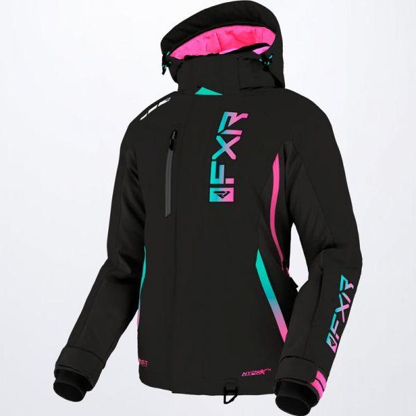 Geci Snowmobil - Dama FXR Geaca Snow Dama Evo FX Black/Mint-E Pink Fade 2022