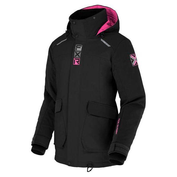 Geci Snowmobil - Dama FXR Geaca Snow Dama Insulated Aerial Black/Elec Pink 2021