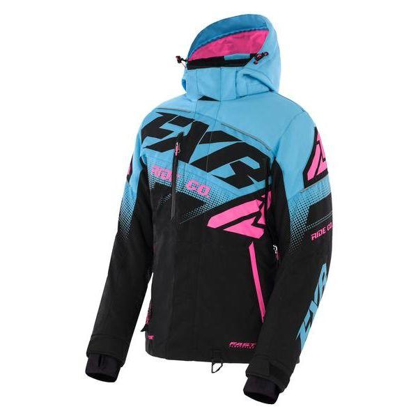 Geci Snowmobil - Dama FXR Geaca Snow Dama Insulated Boost FX Black/Sky Blue/Elec Pink 2021