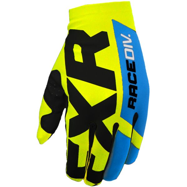 FXR Manusi MX Slip-On Lite Hi Vis/Black/Blue 2020