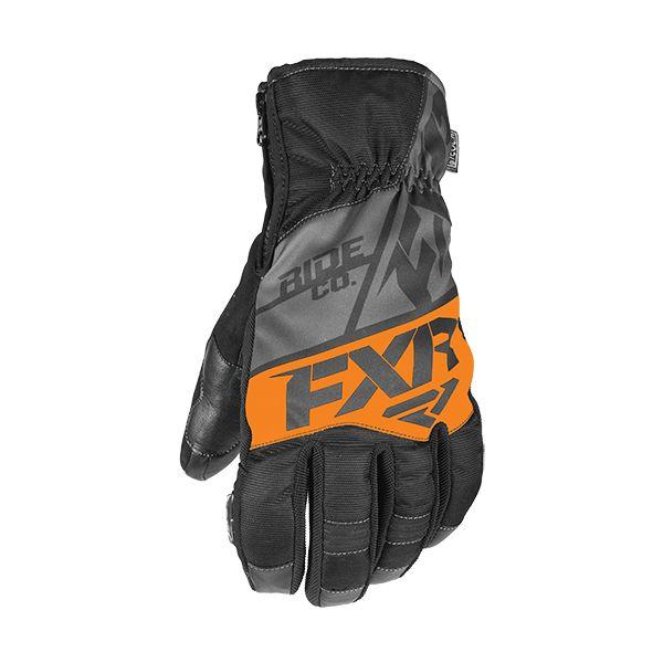Manusi Snowmobil FXR Manusi Snow Fuel Short Cuff Black/Char/Orange 2020