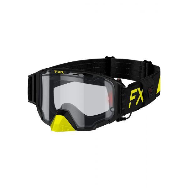 Ochelari Snowmobil FXR Ochelari Snow Maverick E-w/ Battery Pack Hi Vis/Black 2021