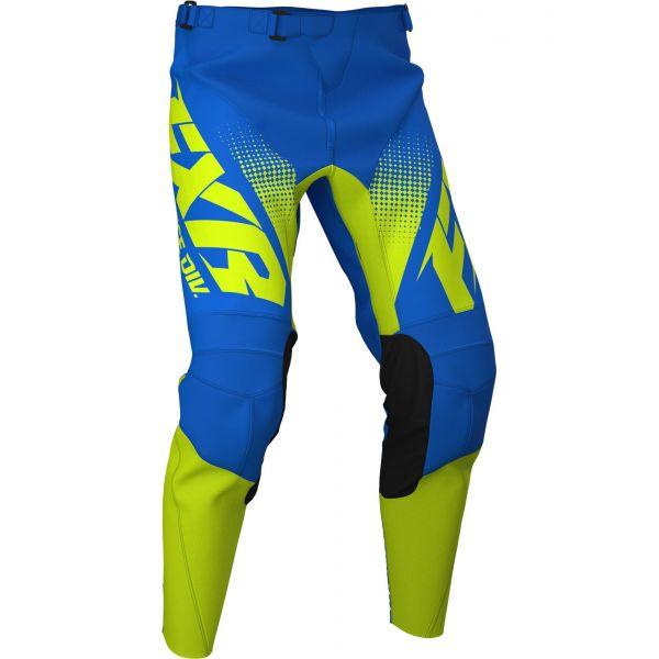 Pantaloni MX-Enduro FXR Pantaloni Clutch MX Blue/Hi Vis 2020