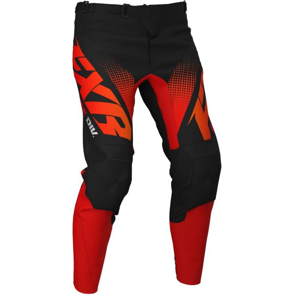 Pantaloni MX-Enduro FXR Pantaloni Clutch MX Red/Orange/Black Fade 2020