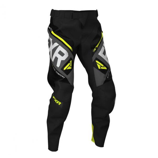 Pantaloni MX-Enduro FXR Pantaloni Clutch Off-Road Black/Char/HiVis/Lt Grey 2020