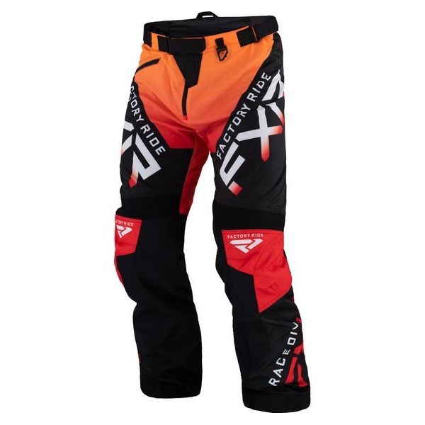 Pantaloni MX-Enduro FXR Pantaloni MX Cold Cross Black/Red 2021