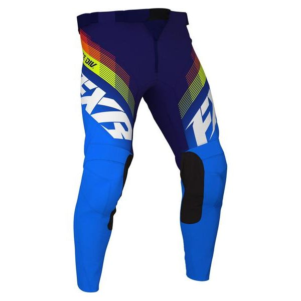 Pantaloni MX-Enduro Copii FXR Pantaloni MX Copii Clutch Blue/Navy/Hi Vis 2021