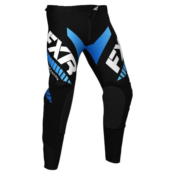 Pantaloni MX-Enduro Copii FXR Pantaloni MX Copii Pro-Stretch Black/Blue 2021