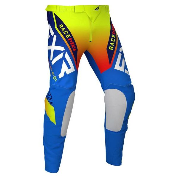 Pantaloni MX-Enduro Copii FXR Pantaloni MX Copii Pro-Stretch Blue/Hi Vis/Red 2021