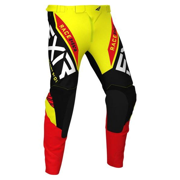 Pantaloni MX-Enduro Copii FXR Pantaloni MX Copii Pro-Stretch Yellow/Black/Red 2021
