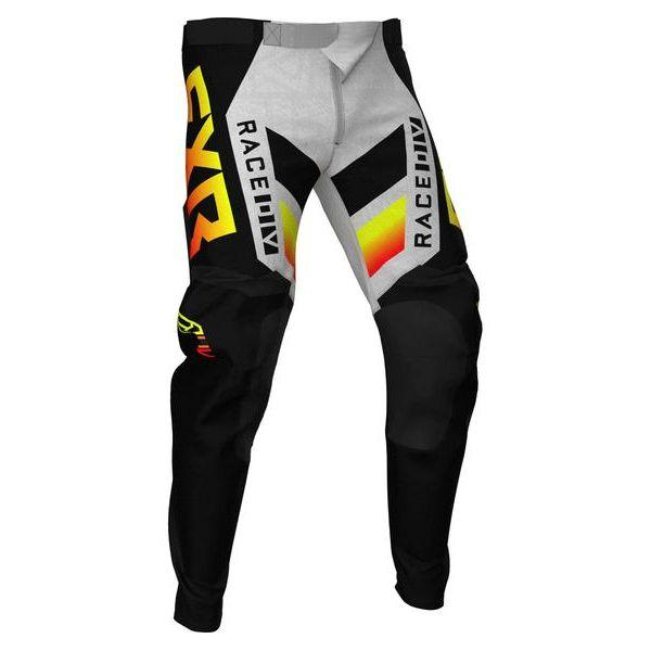 Pantaloni MX-Enduro FXR Pantaloni MX Podium Black/Red/Hi Vis/Grey Aztec 2021