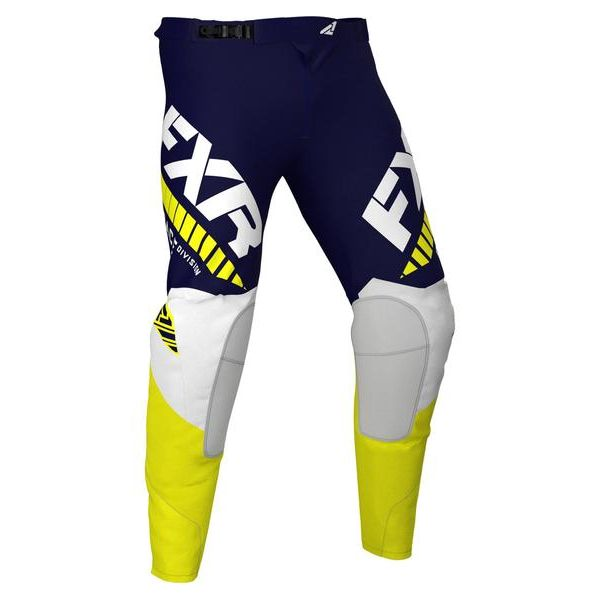 Pantaloni MX-Enduro FXR Pantaloni MX Revo Midnight/White/Yellow 2021