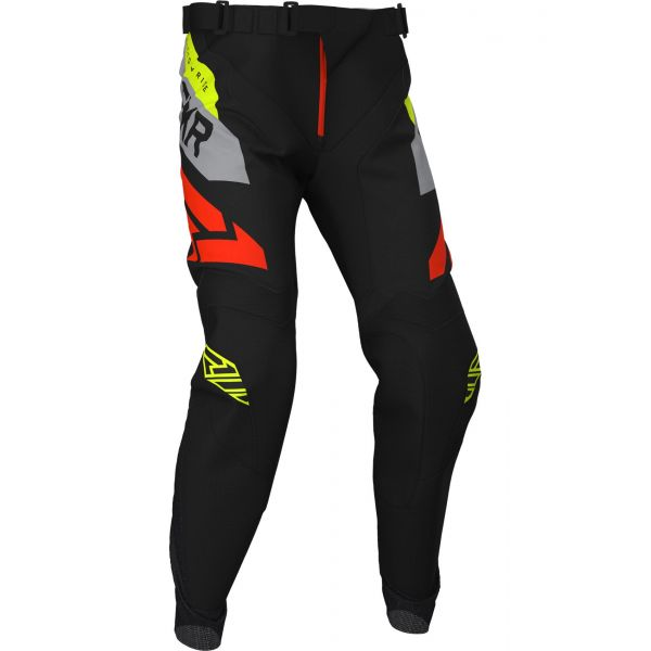 Pantaloni MX-Enduro FXR Pantaloni Podium MX Black/Grey/Hi Vis/Nuke Red 2020